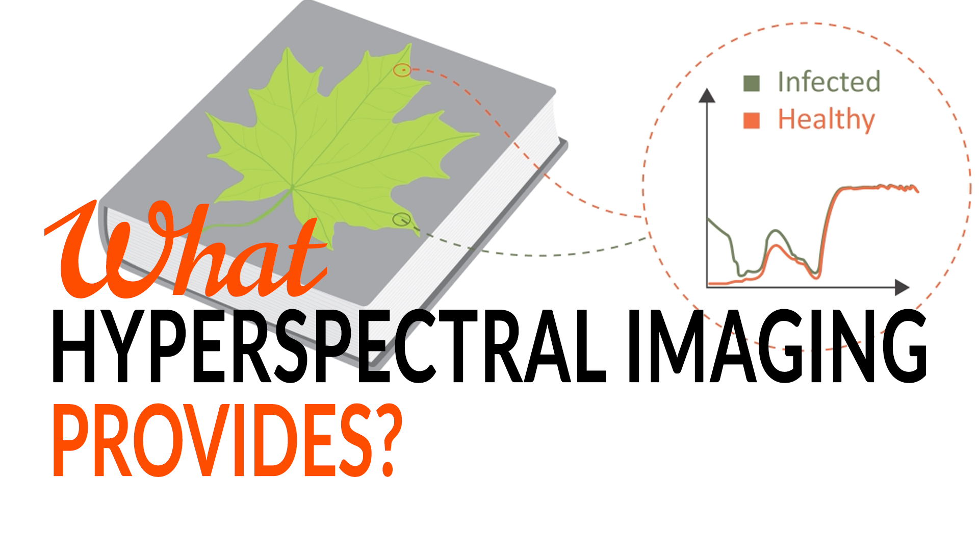 What hyperspectral imaging provides?