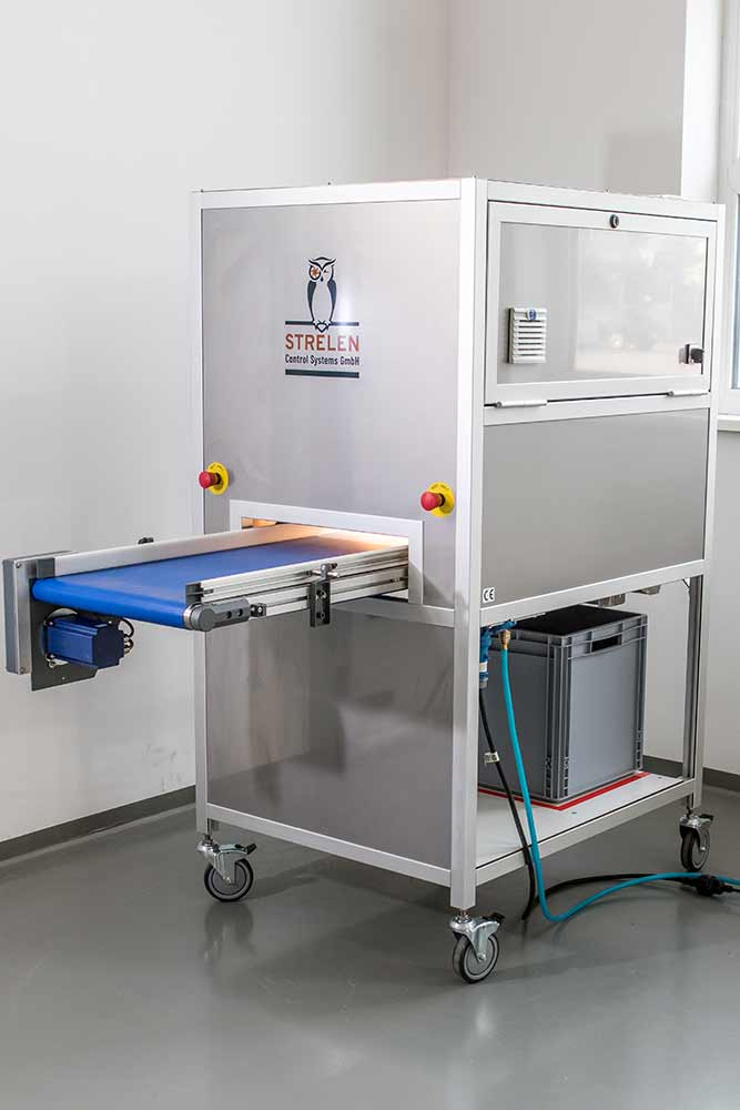 Safe-Ident Sort from Strelen Control Systems enables the economical testing and sorting of nuts.