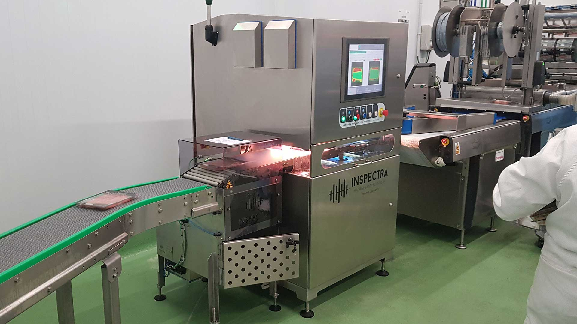 Inspectra machine inspecting food package with Specim FX17 camera